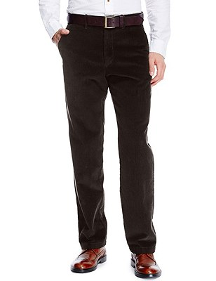 Buttonsafe™ Pure Cotton Corduroy Trousers with Stormwear™, BROWN, catlanding