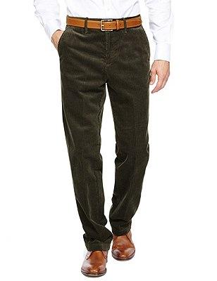 Pure Cotton Corduroy Trousers, MID GREY, catlanding