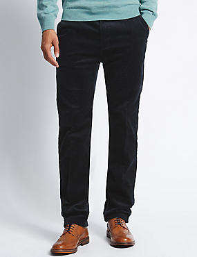 Cotton Rich Corduroy Trousers with Stormwear™, NAVY, catlanding