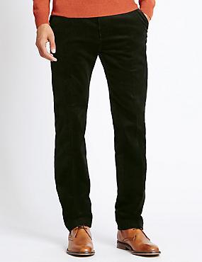 Pantalon en velours côtelé de coton, doté de la technologie Stormwear™, VERT FONCÉ, catlanding
