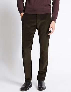 Cotton Rich Corduroy Trousers with Stormwear™, BROWN, catlanding