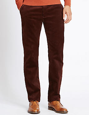 Cotton Rich Corduroy Trousers with Stormwear™, RUST, catlanding
