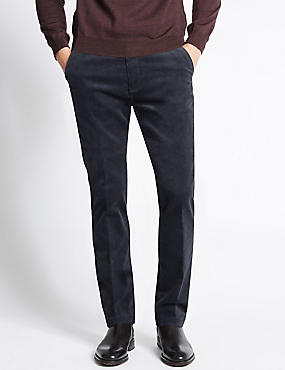 Pantalon en velours côtelé de coton, doté de la technologie Stormwear™, GRIS CLAIR, catlanding
