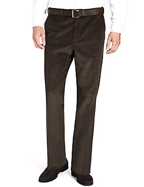 Big & Tall Cotton Rich Active Waist Corduroy Trousers with Buttonsafe™
