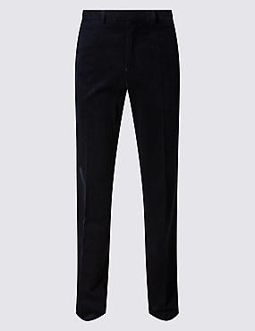 Big & Tall Cotton Rich Corduroy  Trousers, NAVY, catlanding