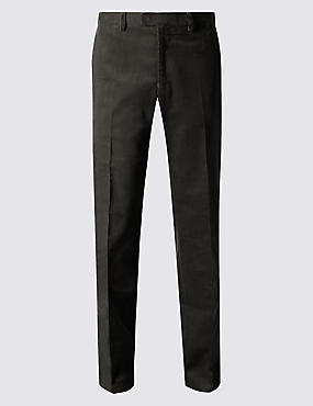 Big & Tall Cotton Rich Corduroy  Trousers, GREY, catlanding
