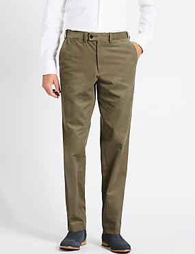 Tailored Fit Cotton Rich Corduroy Trousers, MOLE, catlanding
