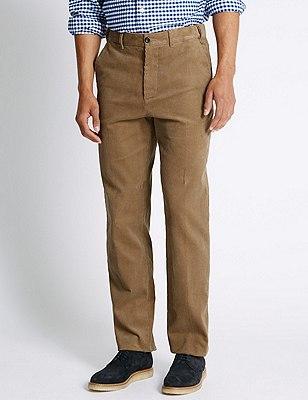 Pure Cotton Corduroy Trousers, NATURAL, catlanding