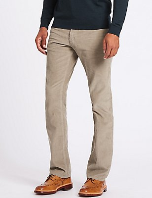 Big & Tall Straight Fit Corduroy Trousers, STONE, catlanding