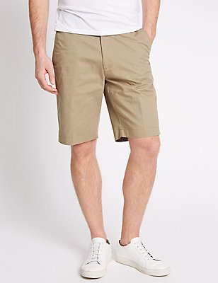 Pure Cotton Regular Fit Shorts, TAUPE, catlanding
