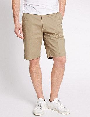 Pure Cotton Shorts, TAUPE, catlanding