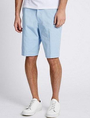 Pure Cotton Shorts, SKY BLUE, catlanding