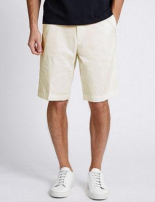 Pure Cotton Shorts, WHITE MIX, catlanding