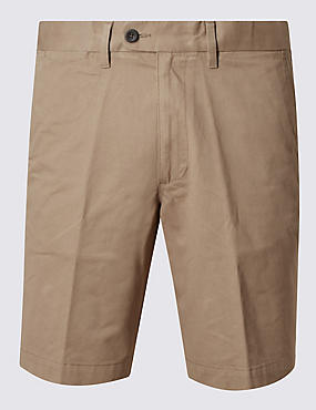 Pure Cotton Chino Shorts, PUTTY, catlanding