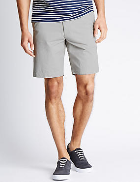 Pure Cotton Chino Shorts, LIGHT GREY, catlanding