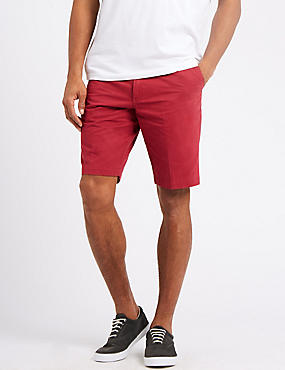 Pure Cotton Chino Shorts, RED MIX, catlanding