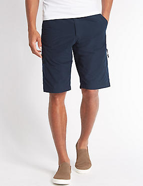 Cotton Rich Trekking Shorts, NAVY, catlanding