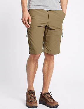 Cotton Rich Trekking Shorts, DARK STONE, catlanding