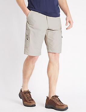 Big & Tall - Pantalón corto de algodón, PIEDRA, catlanding