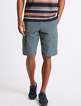 Cotton Rich Trekking Shorts, BLUE, catlanding