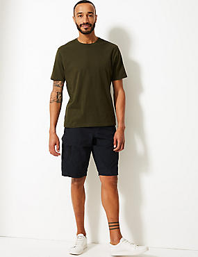Cotton Rich Trekking Shorts, NAVY, catlanding