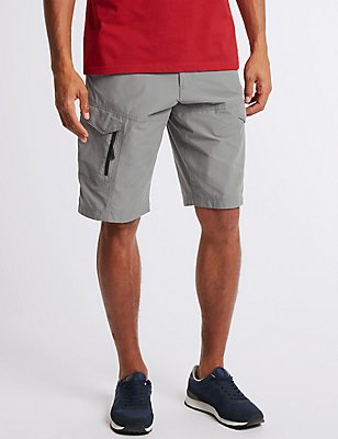 Cotton Rich Trekking Shorts, GREY, catlanding