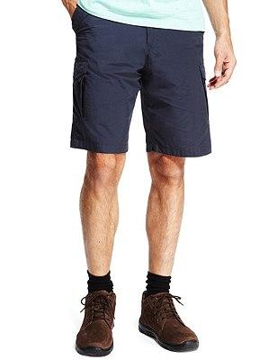 Shorts with Adjustable Waist, NAVY, catlanding