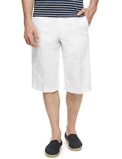 Pure Linen 3/4 Length Shorts | M&S