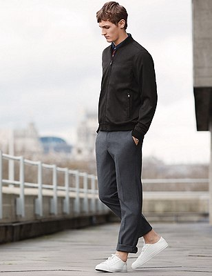Modern Slim Fit Cycling Trouser with Stretch, GREY MIX, catlanding