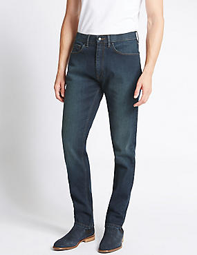 Tapered Fit Water Resistant Jeans, TINT, catlanding