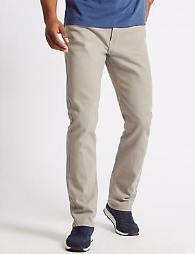 Regular Fit Stretch Water Resistant Jeans, LIGHT STONE, catlanding