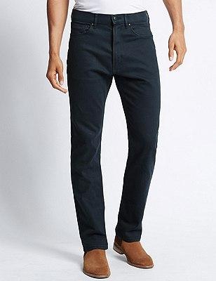 Regular Fit Stretch Jeans, NAVY, catlanding