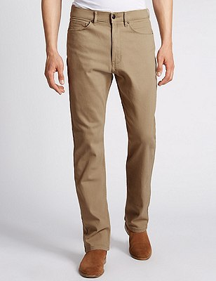 Regular Fit Stretch Jeans, SAND, catlanding