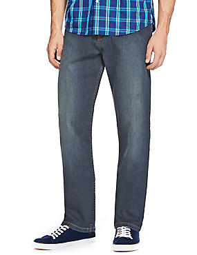 Big & Tall Regular Fit Stretch Jeans, TINT, catlanding