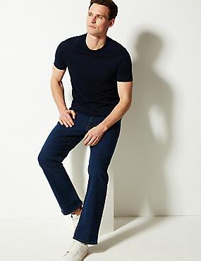 Jeans straight resistentes al agua elásticos, AZUL MEDIO, catlanding