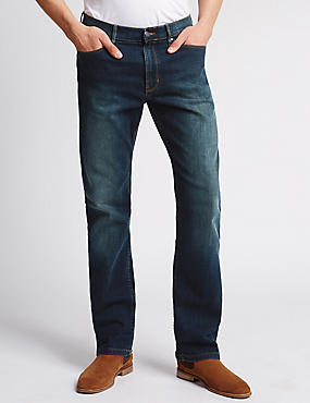 Jeans straight resistentes al agua elásticos, TINTE, catlanding