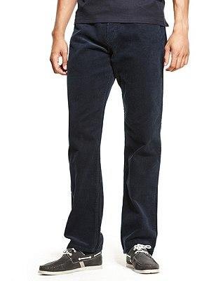 Pure Cotton Corduroy Jeans, NAVY, catlanding
