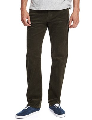 Pure Cotton Corduroy Jeans, OLIVE, catlanding