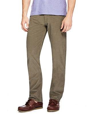 Cotton Rich Straight Fit Trousers, SANDSTONE, catlanding