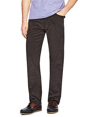 Cotton Rich Straight Fit Trousers, MEDIUM GREY, catlanding