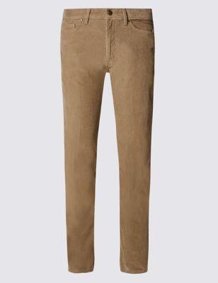 Прямые вельветовые брюки Buttonsafe™ из чистого хлопка