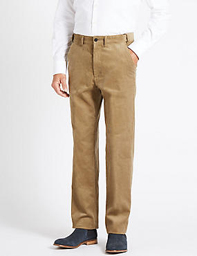 Regular Fit Pure Cotton Trousers, MOLE, catlanding
