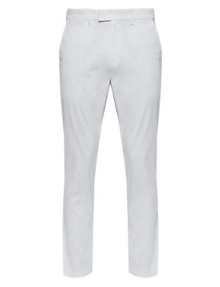 Tapered Supersoft Cotton Rich Chinos with Adjustable Waist Clothing