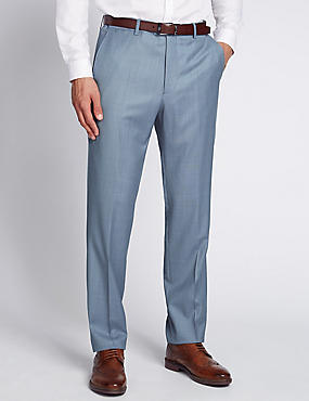 Luxury Italian Wool Flat Front Trousers