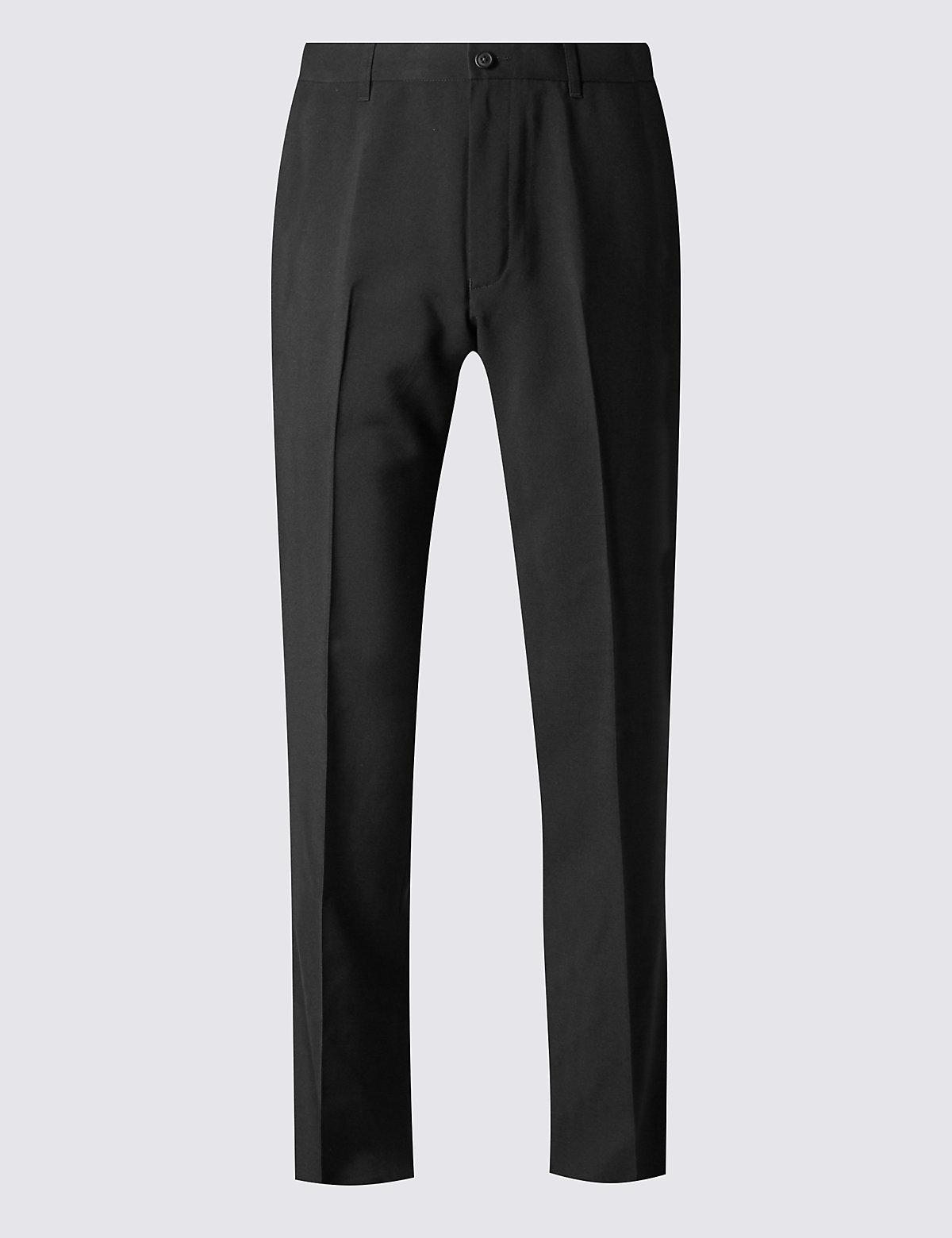 Брюки классического кроя без защипов Big & Tall M&S Collection. Цвет: черный