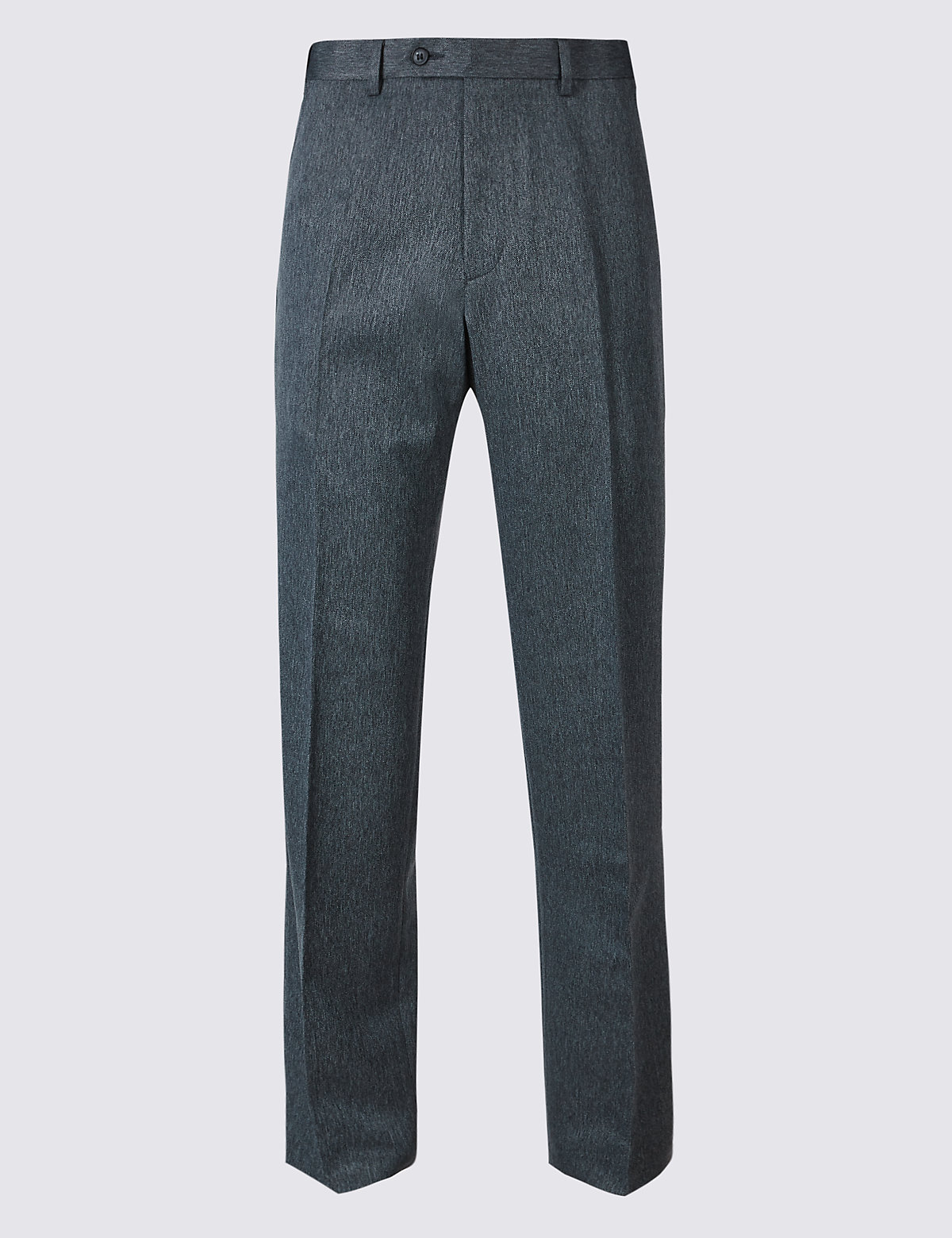 Брюки мужские классического кроя без защипов M&S Collection. Цвет: синий