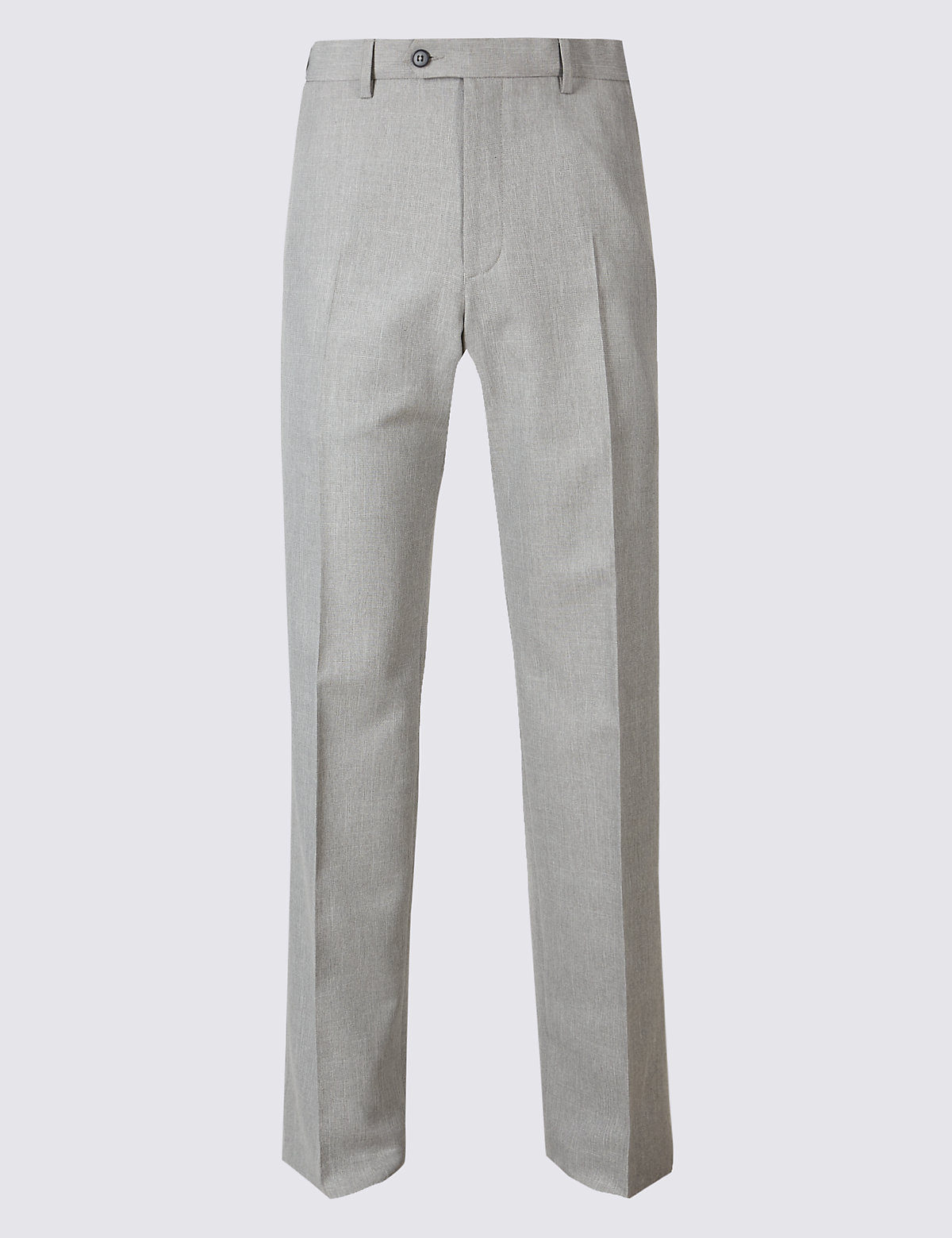 Брюки классического кроя без защипов Big & Tall M&S Collection. Цвет: серый
