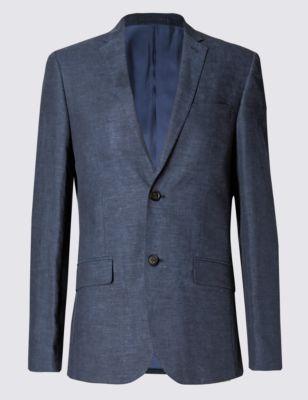 Слегка приталенный пиджак Linen Miracle™ на 2 пуговицах