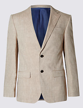 Linen Miracle™ 2 Button Jacket with Buttonsafe™