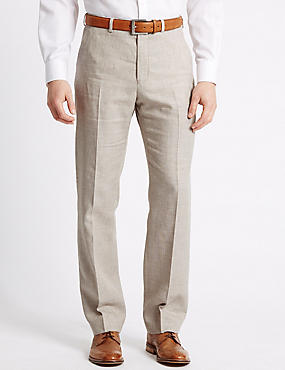 Linen Miracle Regular Fit Trouser, NEUTRAL, catlanding
